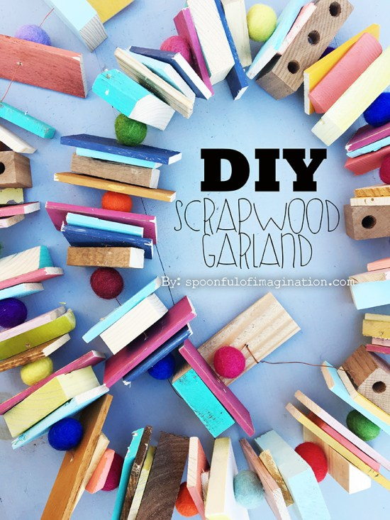 DIY Scrapwood Garland