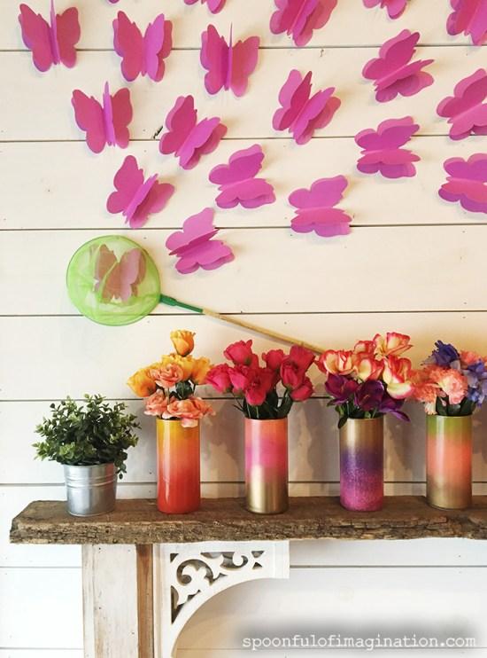 DIY Paper Butterflies- Spring decor for cheap