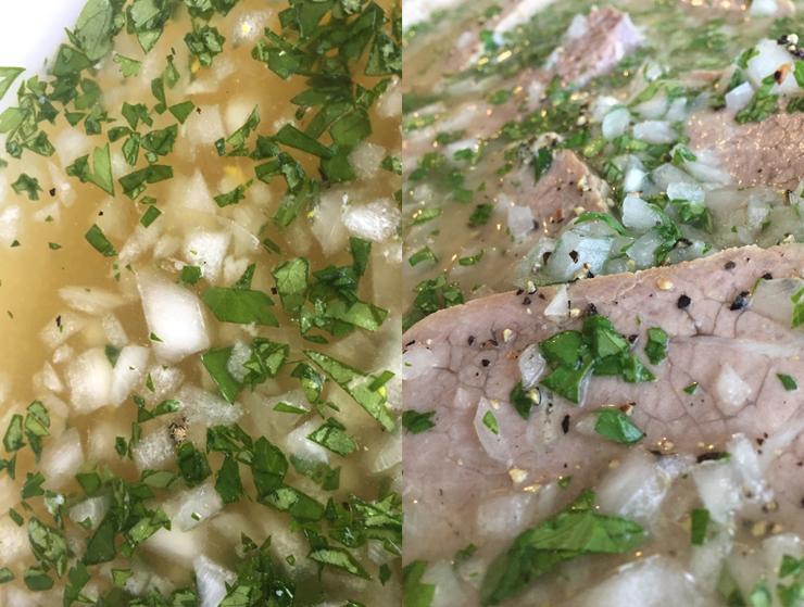 Receta de guatemala, carne fria a la vinagreta