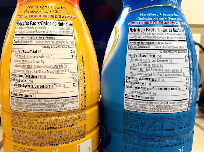 Nutritional Information Vanilla Flavor