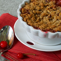 Sour Cherry Walnut Crisp