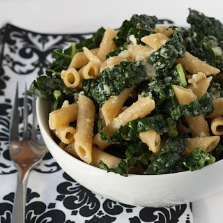 Tuscan Kale Pasta with Lemon and Parmesan