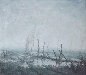 Winterlandschap. Albert Van hecke, 1953. Bezit van Gemeente Hamme. Foto Paul van der Jeugt.