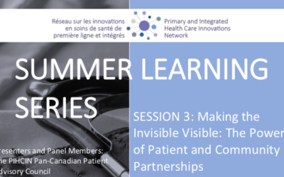 Summer Learning Series | Session 3: Making the Invisible Visible: The Power of Patient and Community Partnerships
