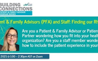 Patient & Family Advisors (PFA) and Staff: Finding our Rhythm