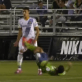 Seattle Sounders 2 Player Given Red Card After Double Kicking Player In Groin