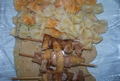 Recette sympa : brochettes de dinde aux pommes