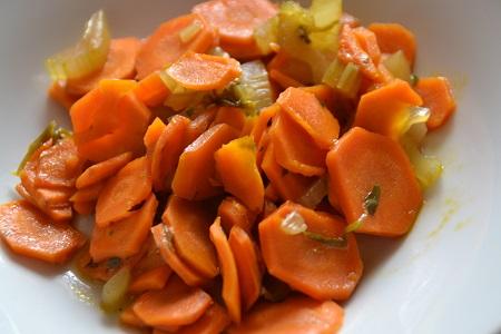 céleri et carotte une sacré poêlée