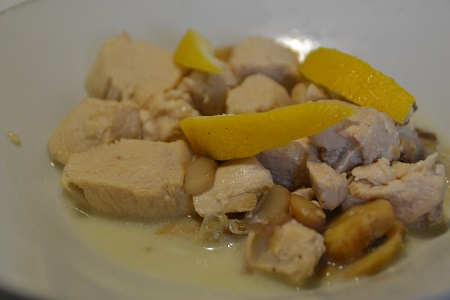 Poulet au citron weight watchers au cookeo
