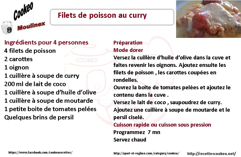 POISSONS CURRY COOKEO