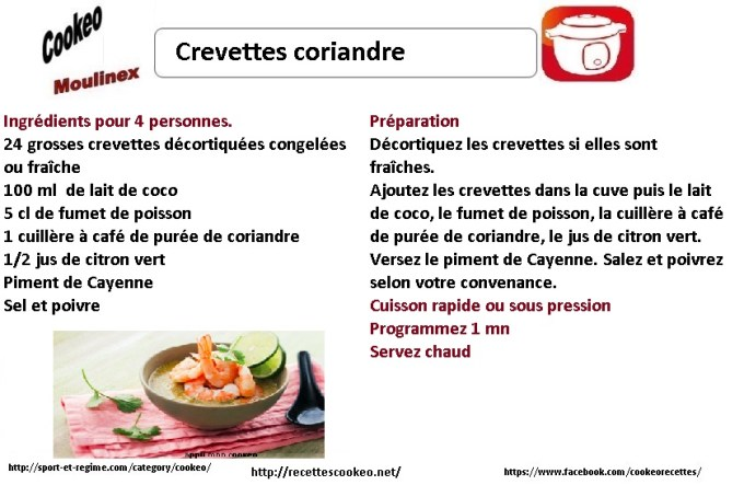crevettes coriandre fiche