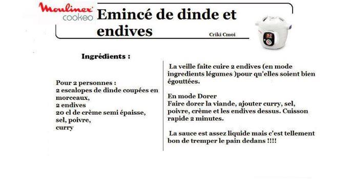 dinde endives cookeo