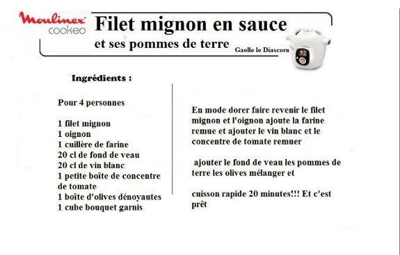 filet mignon en sauce cookeo