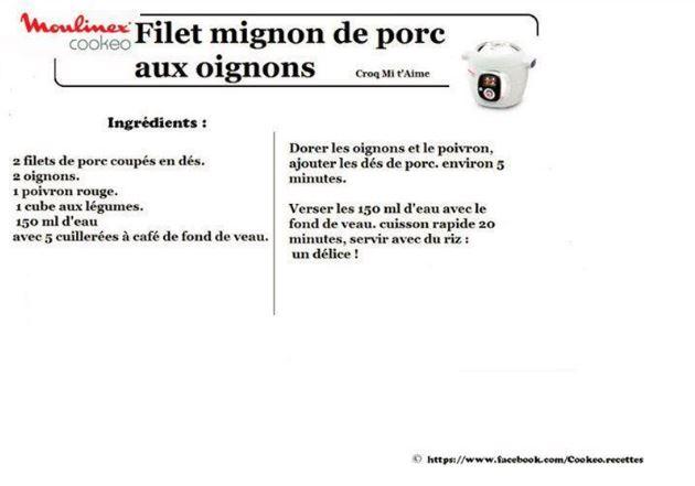 filet mignon porc oignons cookeo