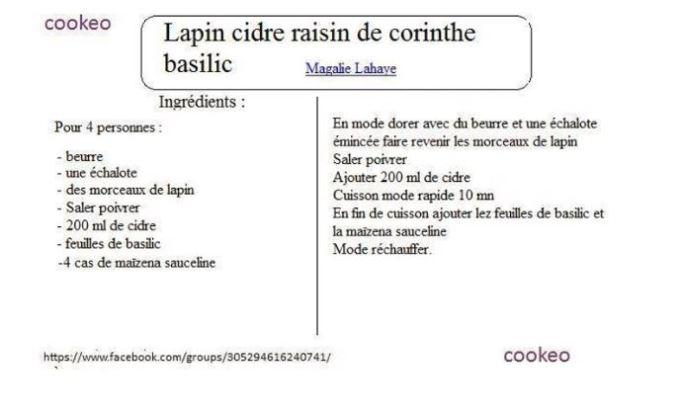 19 recettes cookeo lapin en fiches