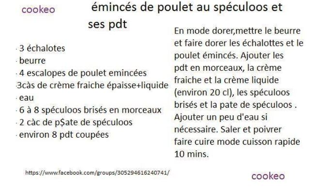 poulet speculoos
