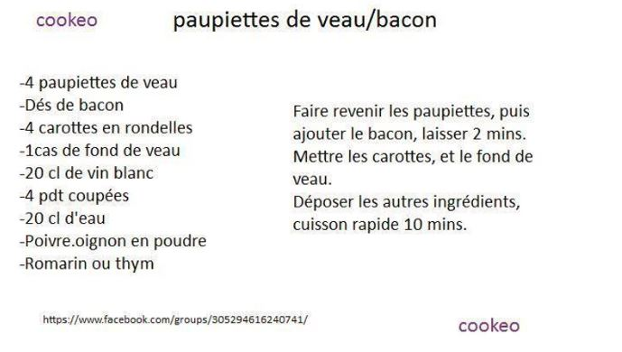 paupiettes bacon