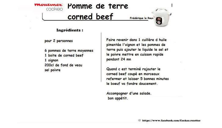 POMMES DE TERRE CORNE BEEF