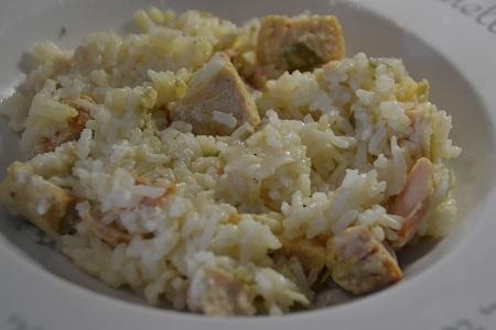 Risotto saumon poireaux Recette cookeo