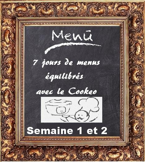 Semaine 1 et 2 menus cookeo équilibrés