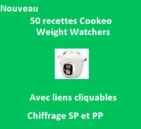 5O fiches recettes cookeo weight watchers avec liens