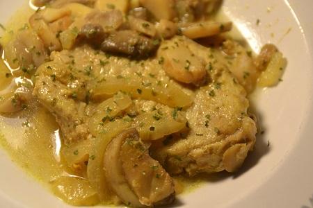 Côtes porc champignons curry cookeo