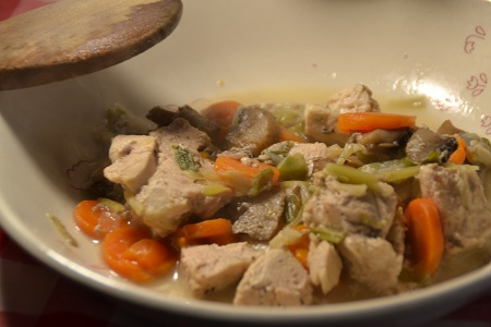 Blanquette poulet express recette cookeo