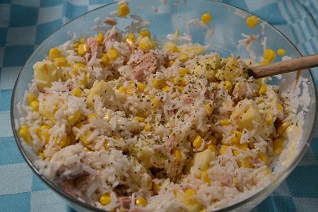 Salade riz thon recette cookeo ou sans