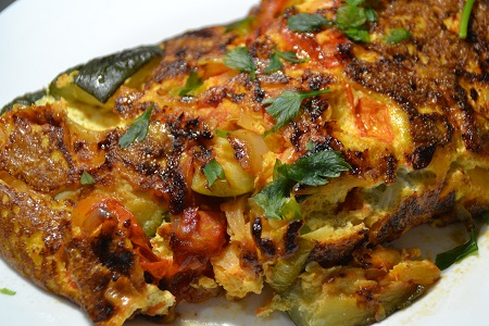 Frittata tomates courgettes recette cookeo