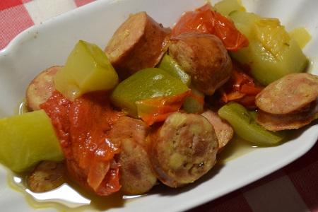 Saucisses courgettes tomates recette cookeo