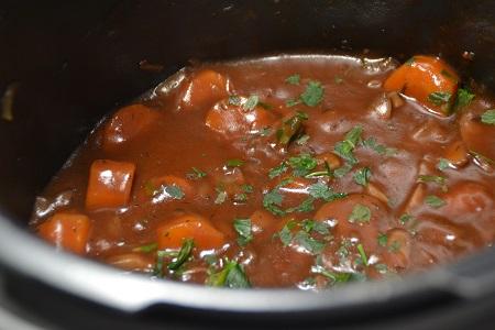 Champignons bourguignonne recette cookeo
