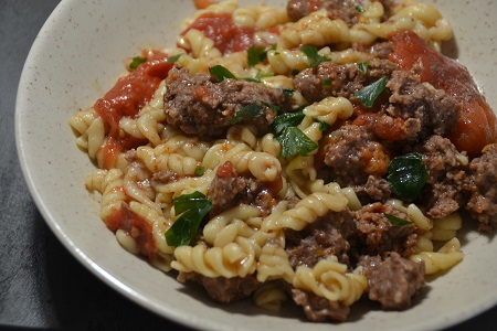 One pot pasta steaks hachés cookeo