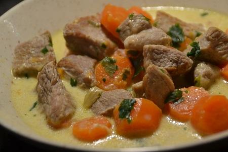 Sauté de porc carottes Boursin cookeo