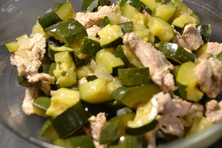 Salade courgettes dinde recette cookeo