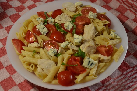 Salade pâtes poulet fromage cookeo