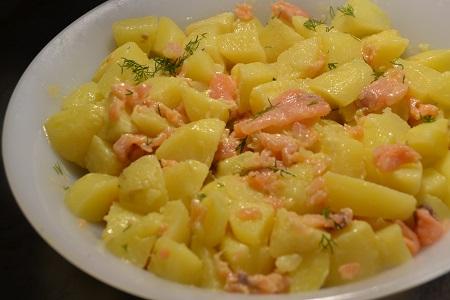 Salade pommes de terre saumon cookeo