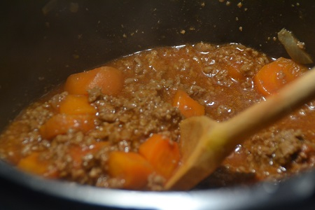Viande hachée sauce vin rouge cookeo