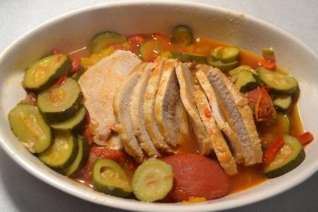 Rôti de porc légumes recette cookeo