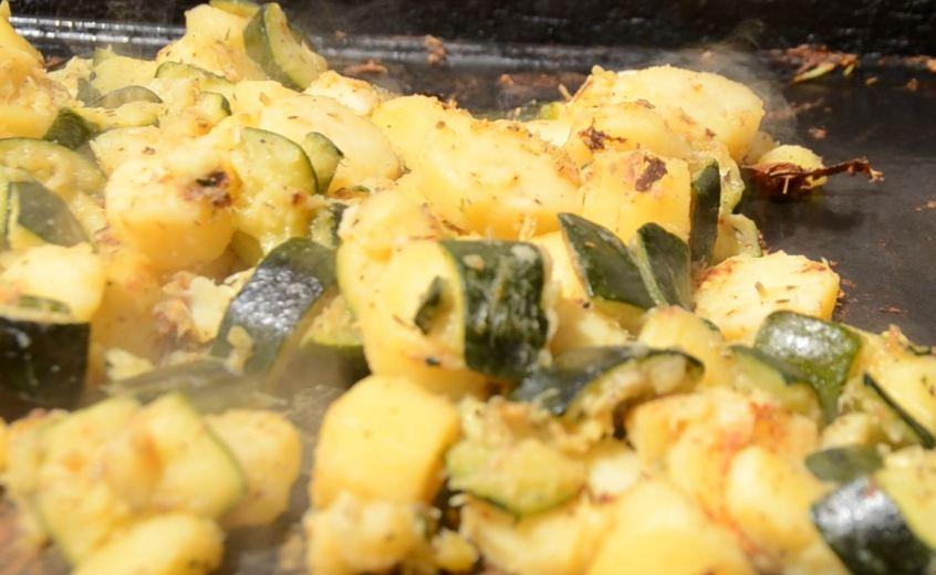 Courgettes pommes de terre à la plancha