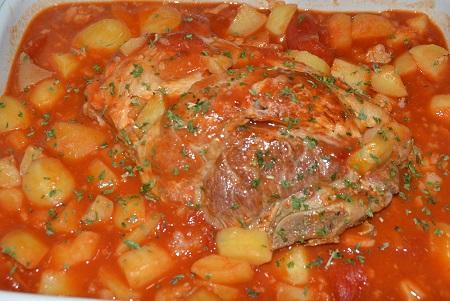 Rouelle de porc tomates recette cookeo