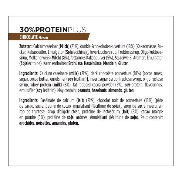 ingrédients 30% protein plus