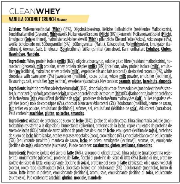Ingrédient clean whey