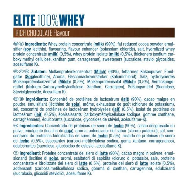 Etiquette elite Whey Dymatize