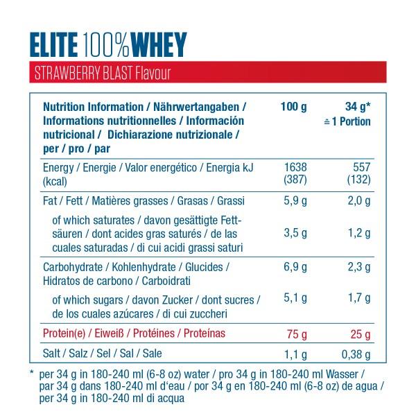 Etiquette Elite 100% Whey