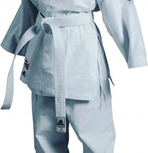 adidas karatepak K200 junior wit maat 110 120 cm