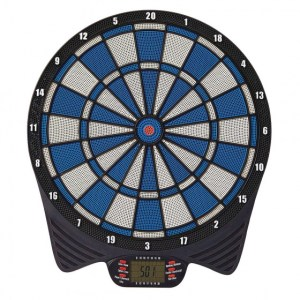 Unicorn elektronisch dartbord 40 cm grijs/blauw 3 delig