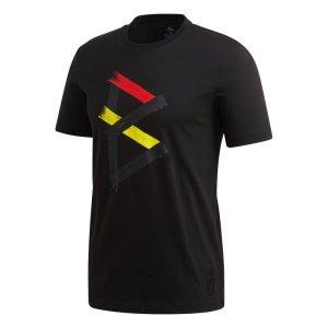 adidas Belgie T-Shirt 2020-2021 Zwart Rood Geel