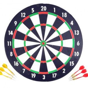 Longfield Games dartbord 43 cm met zes darts