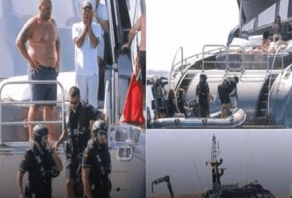سلطات الجمارك الإسبانية تفاجئ رونالدو في يخته