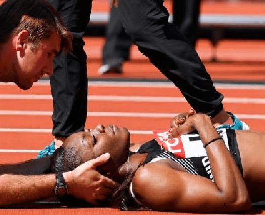 بالصور.. حادث مروع للاعبة ترينيداد وتوباغو في سباق 100 متر حواجز سيدات
